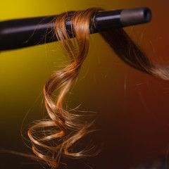 curling hair